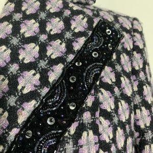 Nine West Jackets & Coats - Nine West Purple Wool Blend Peacoat